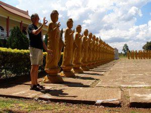 Kent at a Buddhist Temple, Iguassu Falls, Brazil